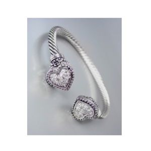 Jewelry - Balinese Heart Cable Bangle